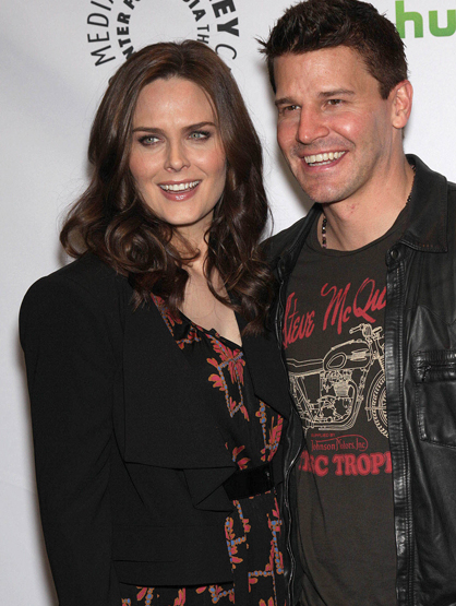 Faces and Places - 3.8.2012 Emily Deschanel and David Boreanaz at a promotional event honoring