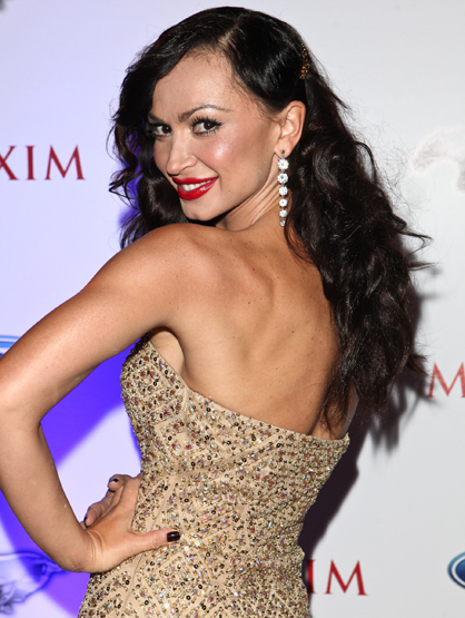 "Stars You Thought Were Latino... But Aren't - Karina Smirnoff is known for always partnering a Latino celebrity on ""Dancing with the Stars,"" dating Mario Lopez and for being a two-time Latin Ballroom champion. Her father is Greek and Jewish and her mother is Russian."