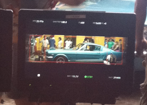 Follow the Leader: Behind the Scenes - Ay! This sexy car gets some screen time before the shoot.