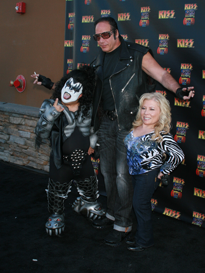 Faces and Places - 03.15.2012 Comedian Andrew Dice Clay with fans at the opening of KISS by Monster Mini Golf, Las Vegas.