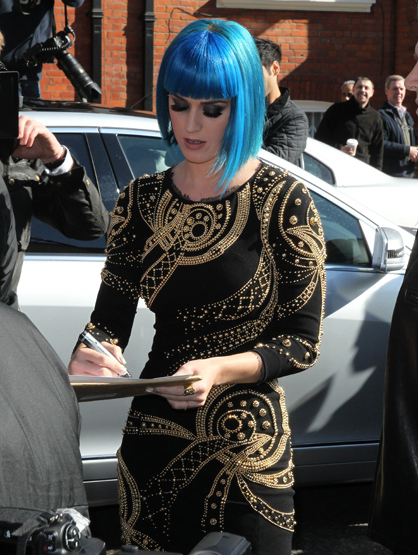 Faces and Places - 03.19.2012 Singer Katy Perry at the Maida Vale Studios, London for Radio One's Live Lounge.