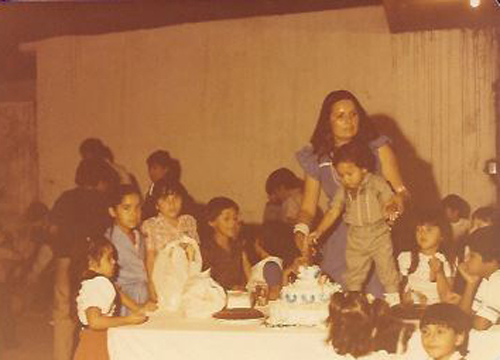 Ricardo Laguna: The Younger Years - Ricardo cutting his first birthday cake in La Paz, Mexico in 1984.