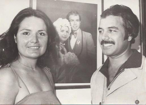 Ricardo Laguna: Family Album - Ricardo Sr. and Marisela's first wedding anniversary in 1979.