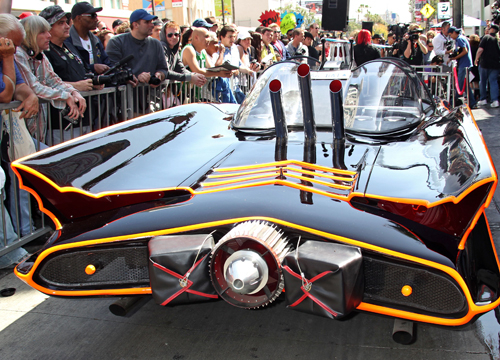 Faces and Places - 04.05.2012 The Batmobile, Adam West honored with his own Star on the Hollywood Walk of Fame, (Hollywood, CA.)