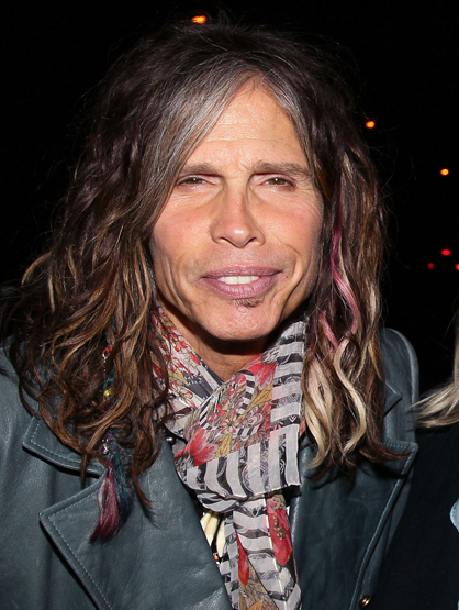 Celebrity Superstitions - Steven Tyler is known for all the feathers, makeup and other accessories he wears, so a necklace with four teeth doesn't stand out as special. Turns out he wears it for good luck, it's made of teeth from a raccoon he caught when he was younger.