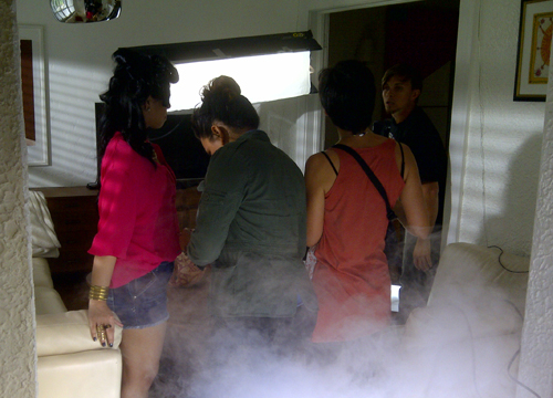 Behind the Scenes of De Nuevo! - Adding a smokey element!!... Not sure Eli or the crew were prepared just yet.