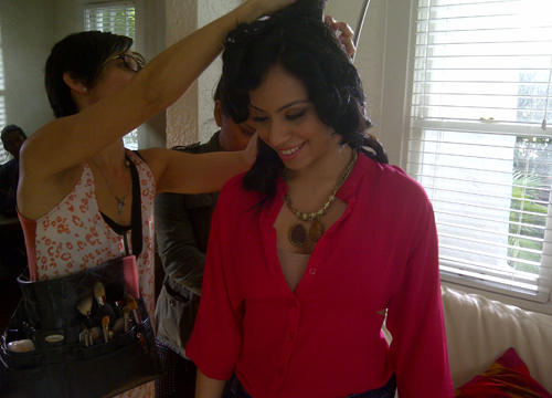 Behind the Scenes of De Nuevo! - Finishing touches for this outfit! Eli looks ready to bust it out!