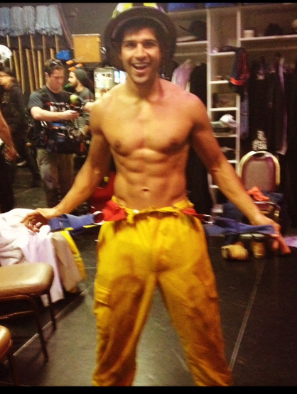 Ricardo Laguna: The Chippendale - Ready to put out a fire.
