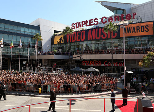 VMA 2012: Best Moments - General atmosphere outside the 2012 MTV Video Music Awards at Staples Center on September 6, 2012 in Los Angeles, California.