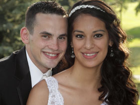 Newlyweds Iris & Zach