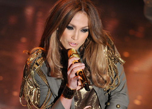 Jennifer Lopez: Through the Years - Lopez performs at the 60th Italian Music Festival on February 19, 2010