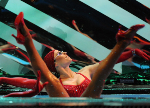 The Best of the Latin Grammys - A swimmer performs during during the 11th Annual Latin Grammy Awards November 11, 2010 in Las Vegas, Nevada.