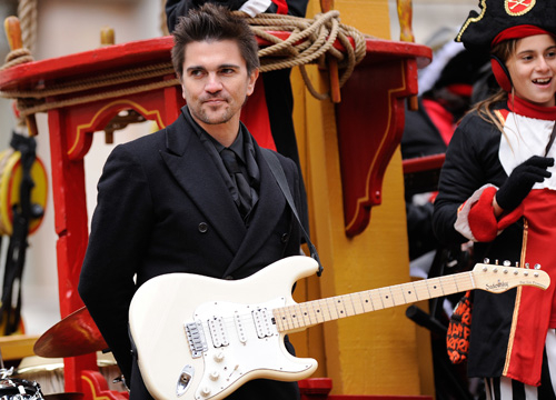 Celebrities on Parade - Juanes attends the 84th Annual Macy's Thanksgiving Day Parade on November 25, 2010 in New York City.